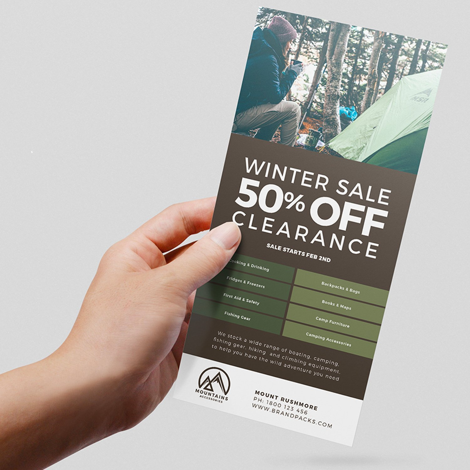 custom rack card with photo advertising store sale||