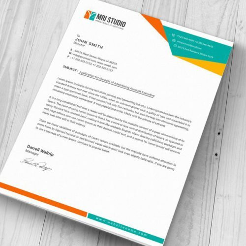 ||professional 8.5 x 11 inch paper with letterhead||