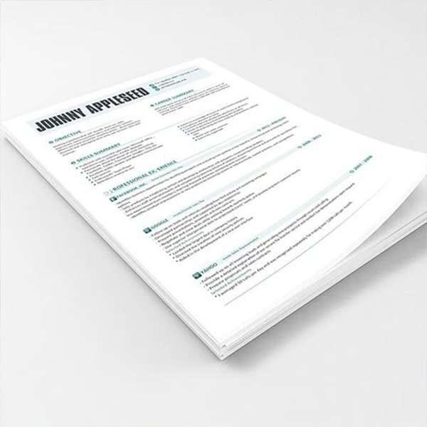 ||photocopies of résumé in color||